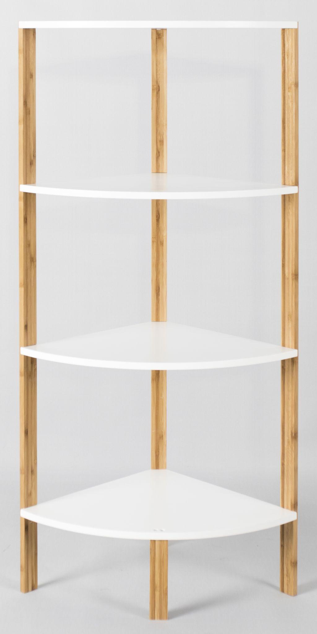 armoire d 39 angle bambou tag re de salle bain cuisine. Black Bedroom Furniture Sets. Home Design Ideas