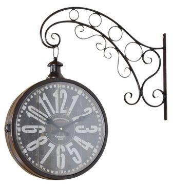 Uhr Bahnhofsuhr in Braun