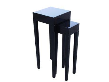 Beistelltisch Set schwarz  Klavierlack hochglanz modern