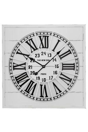 Uhr aus Holz in Weiß