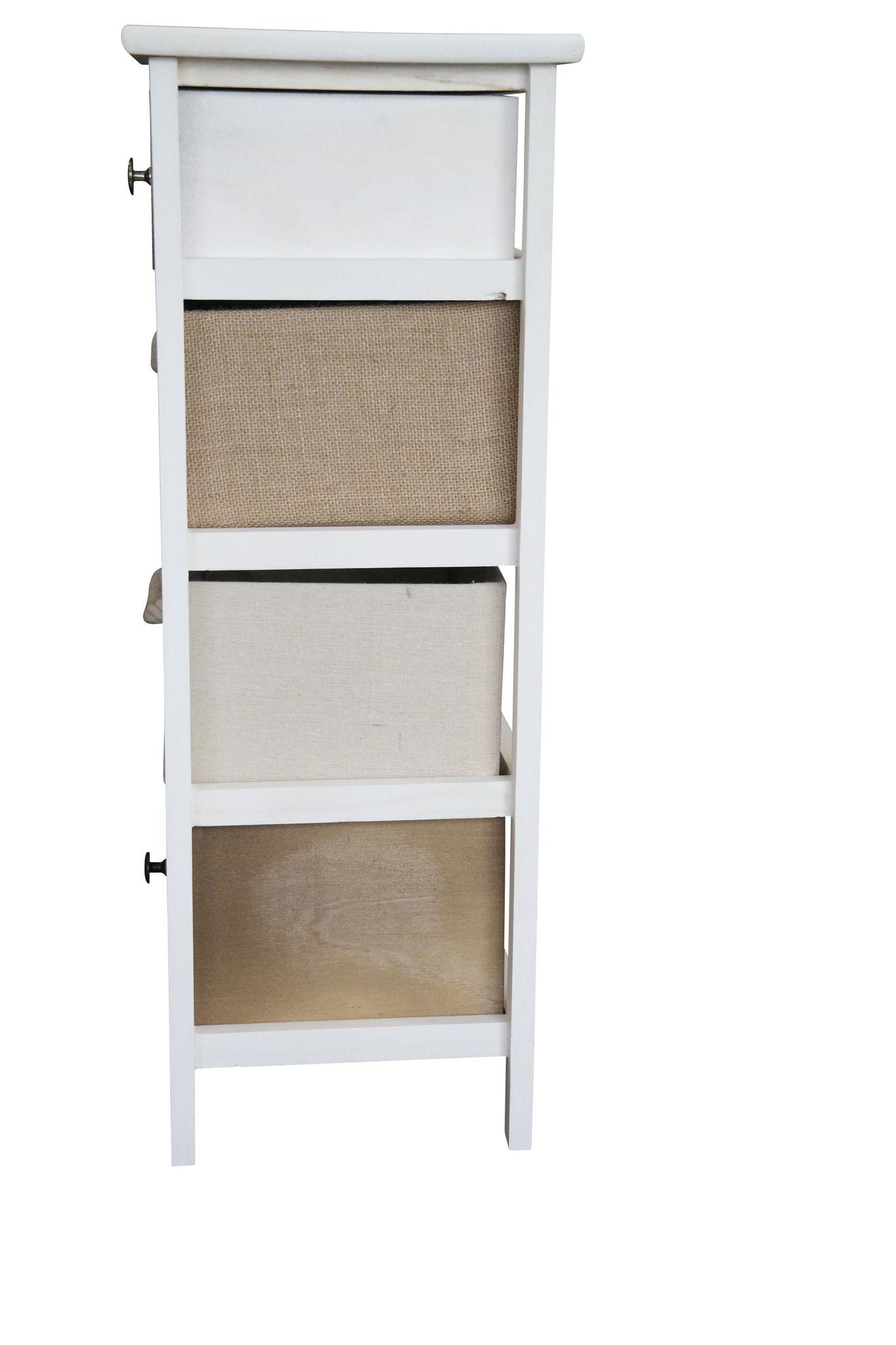 kommode schrank mit schubladen bunt landhaus shabby chic vintage wei k rbe ebay. Black Bedroom Furniture Sets. Home Design Ideas