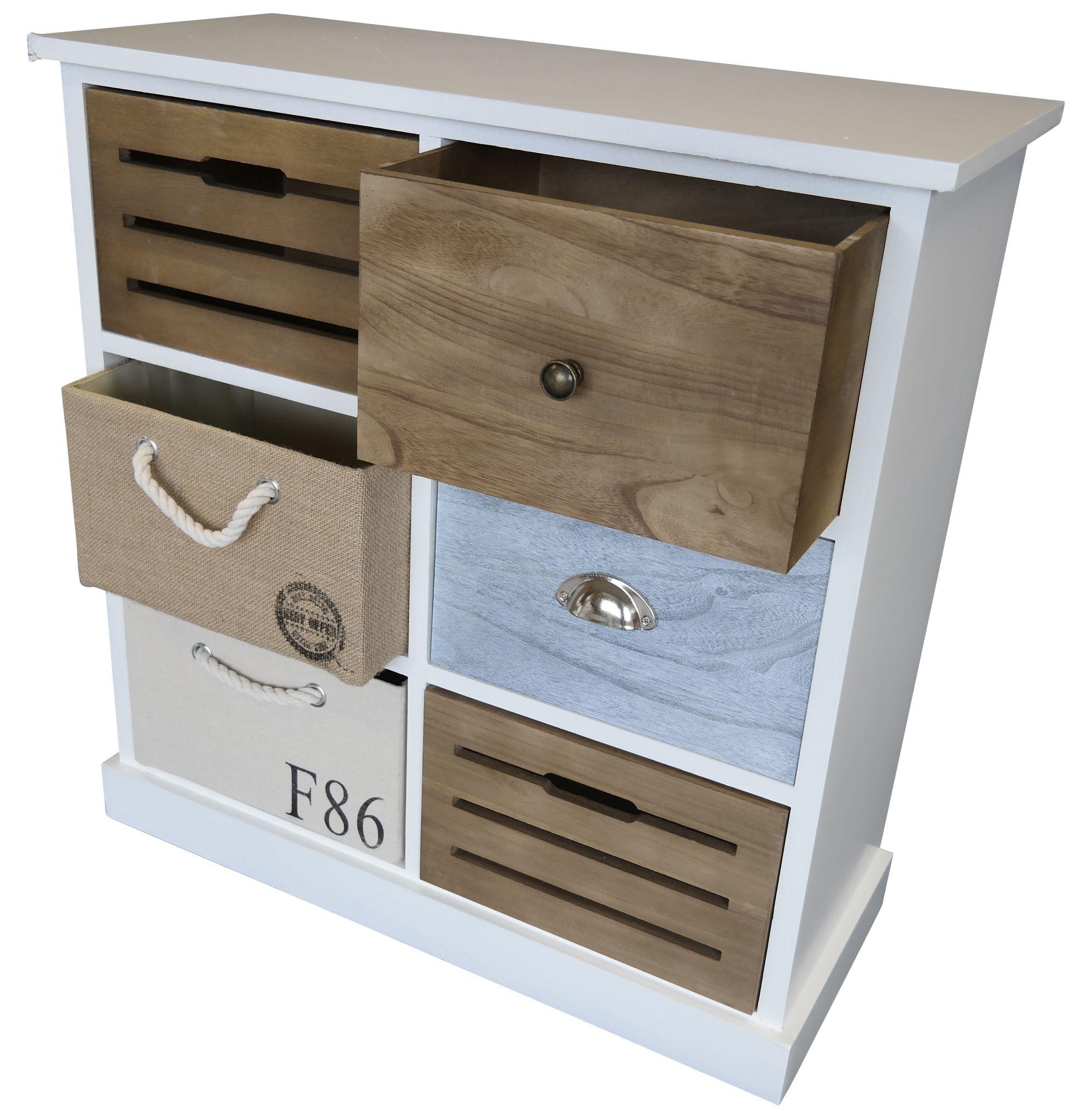 Kommode Bastide bunt Holz | elbmöbel online shop