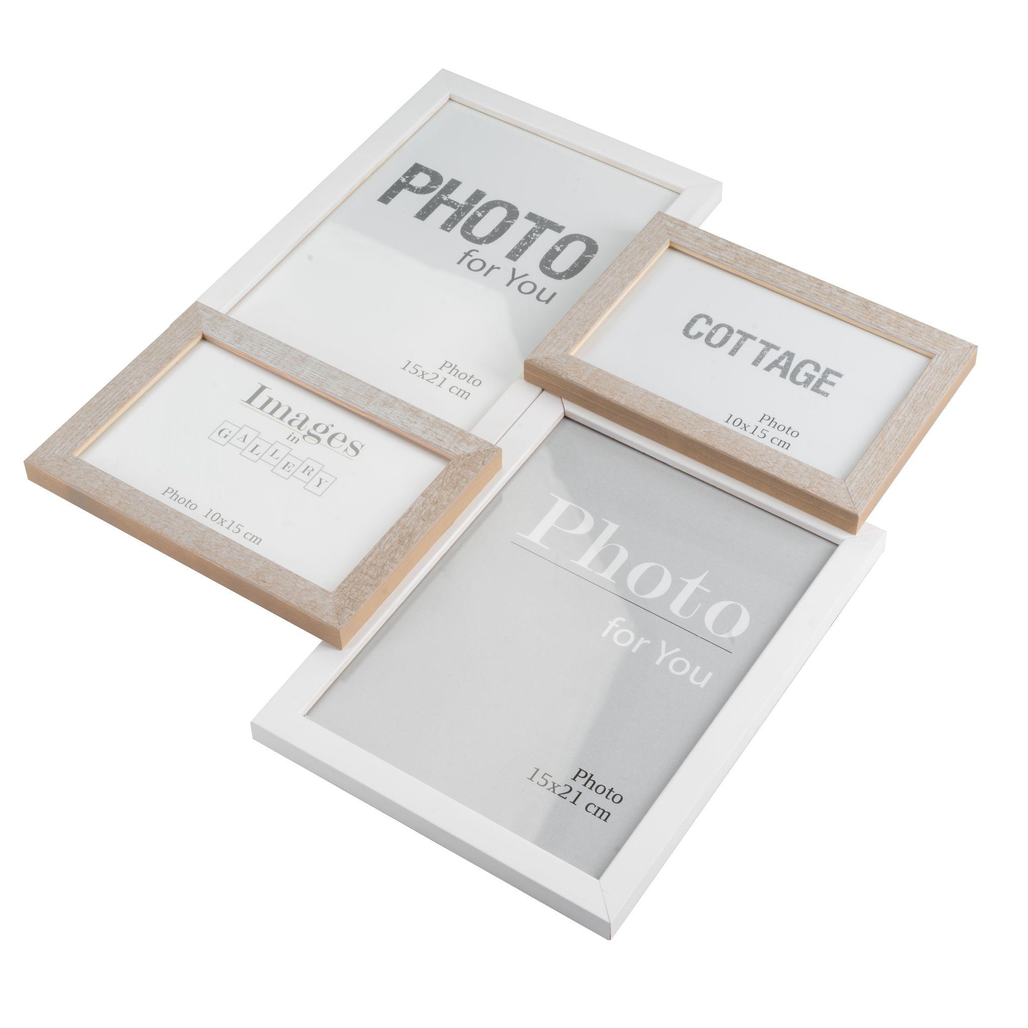 multi bilderrahmen collage holz 35x40 | elbmöbel online shop
