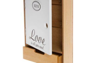Schlüsselkasten Love Schublade weiß Holz