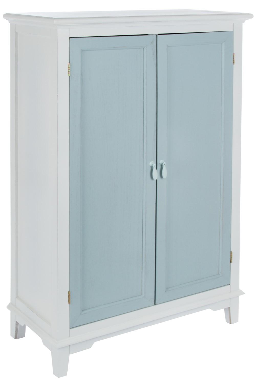 Schrank blau weiß Vintage aus Holz | elbmöbel online shop