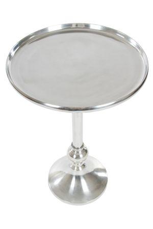Beistelltisch silber rund aus Aluminium