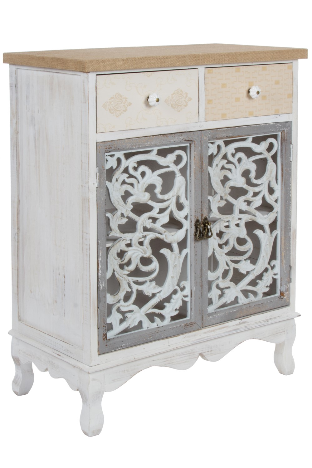 kommode schubladen und t r in shabby wei antik elbm bel online shop. Black Bedroom Furniture Sets. Home Design Ideas