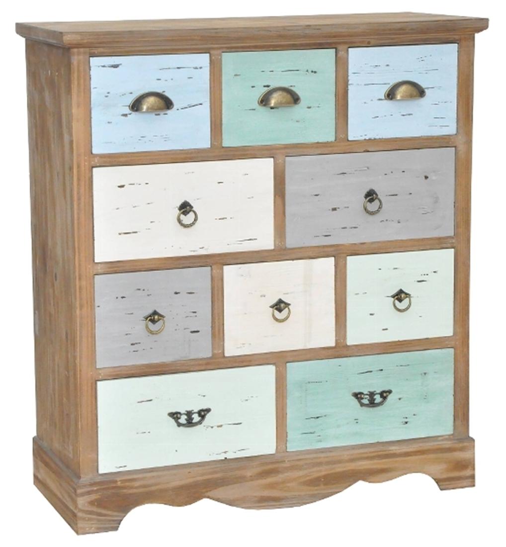 Kommode Schubladen Holz Bunt Shabby Chic Elbmobel Online Shop