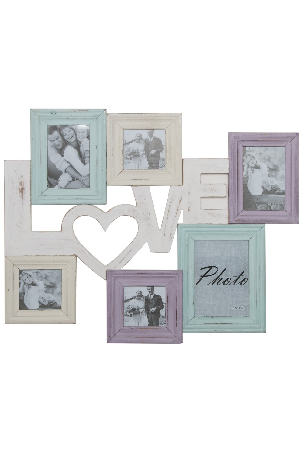 Bilderrahmen Collage Bunt Shabby Love Elbmobel Online Shop
