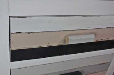 Kommode Bunt Holz 3 Schublade