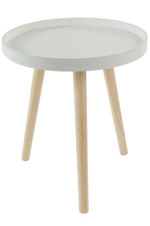 Beistelltisch weiß rund aus Holz