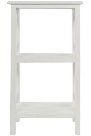 Beistelltisch Regal hoch mit 3 Ablagen weiß