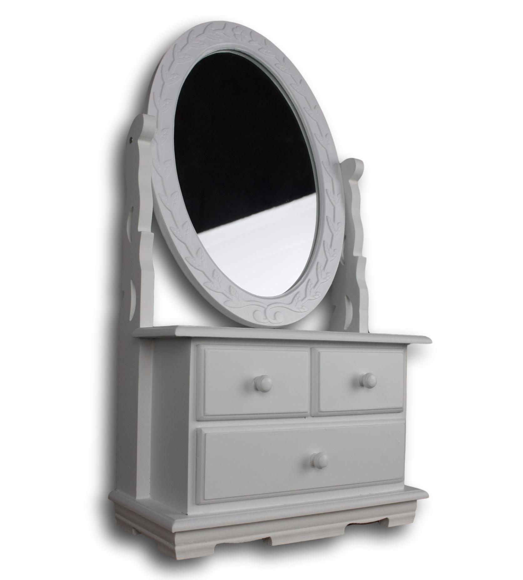 frisiertisch spiegel frisierkommode wei antik holz schminktisch schminkspiegel ebay. Black Bedroom Furniture Sets. Home Design Ideas