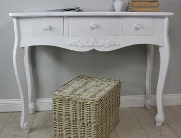 sekret r konsolentisch wei antik landhaus. Black Bedroom Furniture Sets. Home Design Ideas