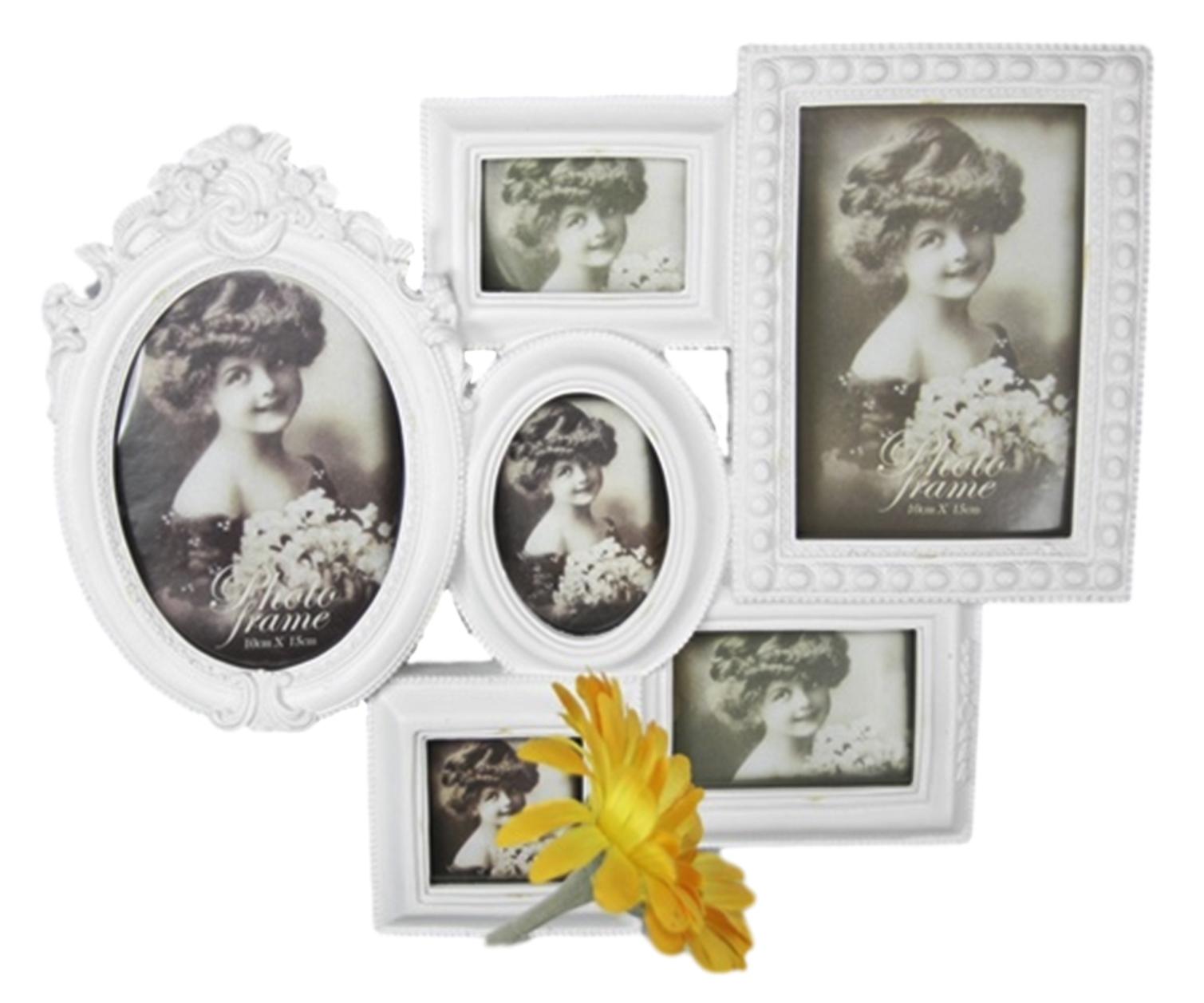 Fotorahmen Rahmen weiß antik Collage | elbmöbel online shop