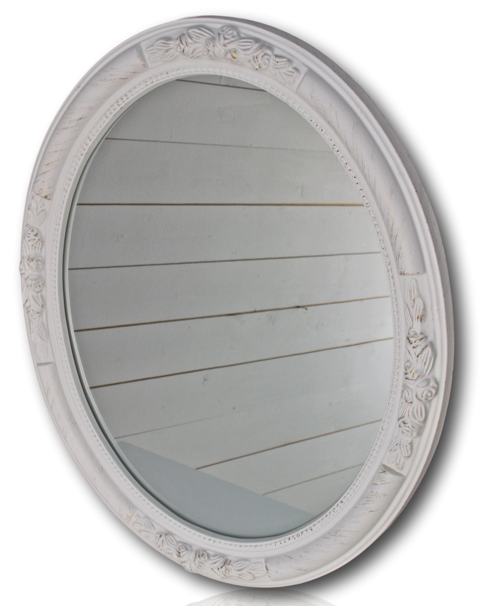 wandspiegel spiegel oval neu wei holz verzierungen barock barockspiegel antik ebay. Black Bedroom Furniture Sets. Home Design Ideas