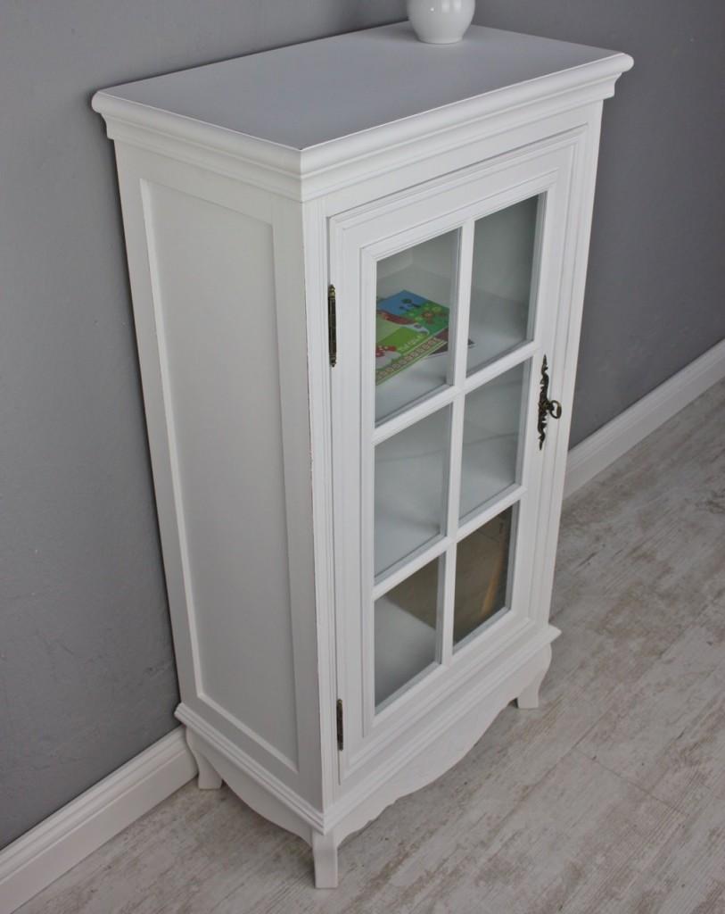 Kommode glastür weiß vitrine