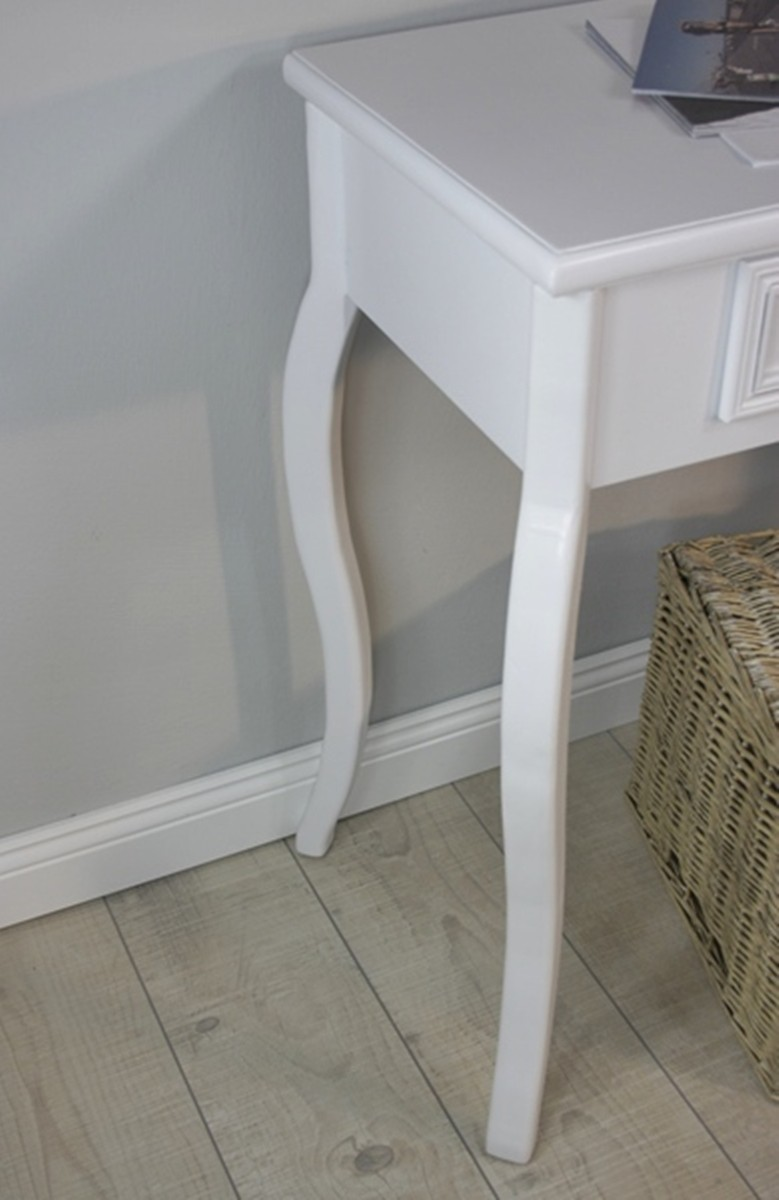console table wood table drawers white cottage sideboard side table antique ebay. Black Bedroom Furniture Sets. Home Design Ideas
