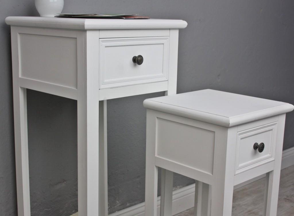 2x telefontisch set tisch wei. Black Bedroom Furniture Sets. Home Design Ideas