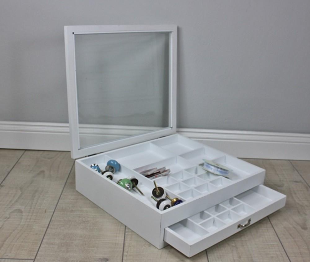schmuckkasten glasdeckel wei holz elbm bel online shop. Black Bedroom Furniture Sets. Home Design Ideas