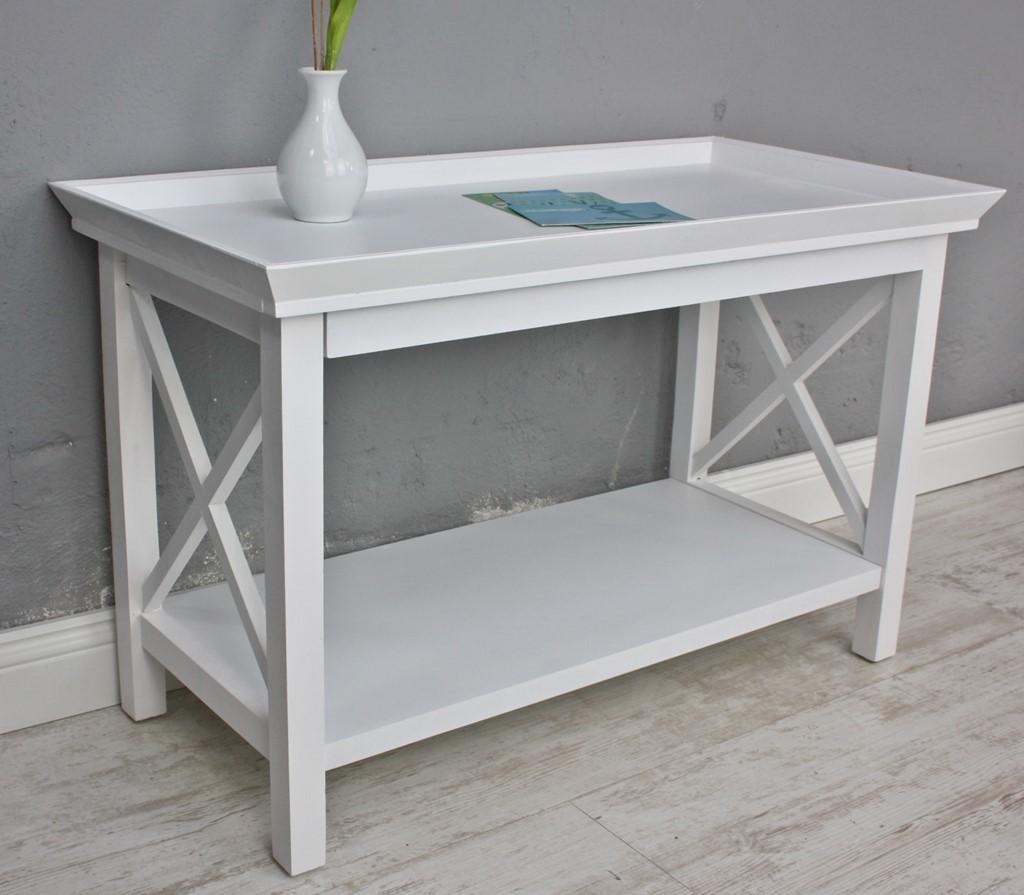 Couchtisch weiß Holz 80x40cm | elbmöbel online shop