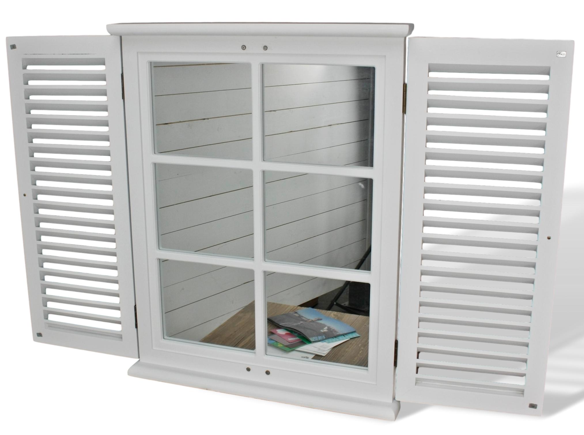 Spiegel Wandspiegel weiß Landhaus Holz Fensterladen | günstige ...