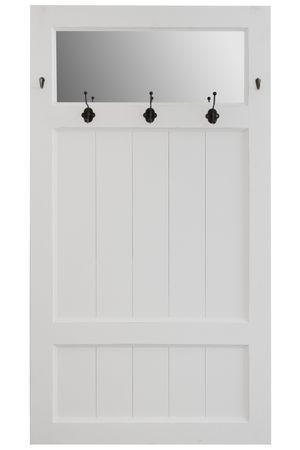 Garderobe Tür Spiegel weiß Landhaus Holz