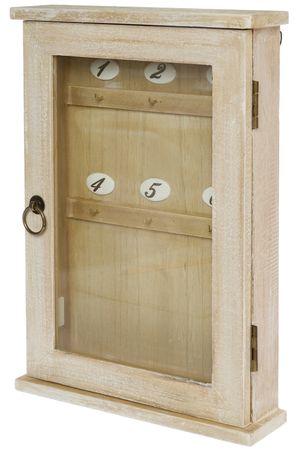 Schlüsselkasten Holz braun Vintage