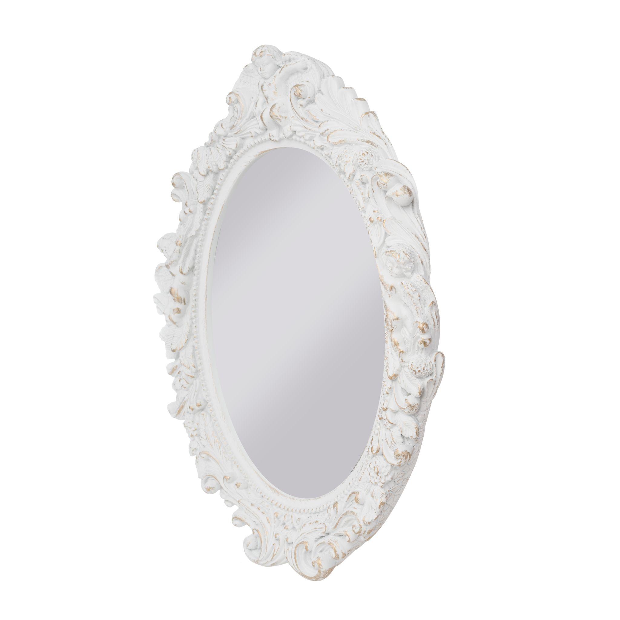 spiegel oval barock wei wandspiegel elbm bel. Black Bedroom Furniture Sets. Home Design Ideas