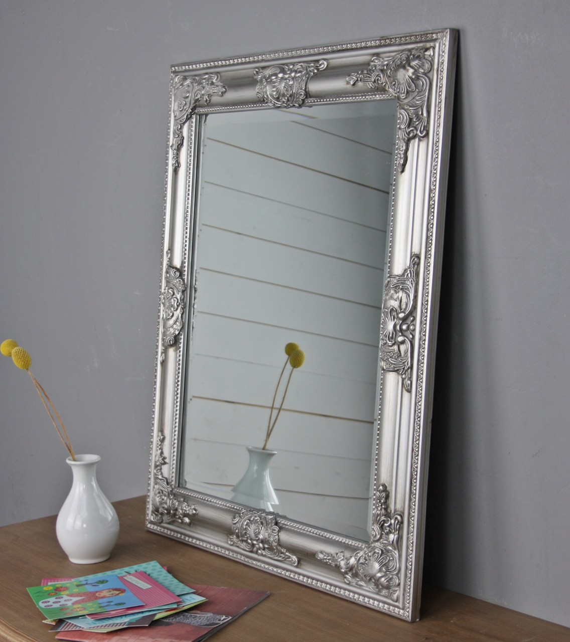 Spiegel silber barock | günstige Landhausmöbel online kaufen | elbmöbel