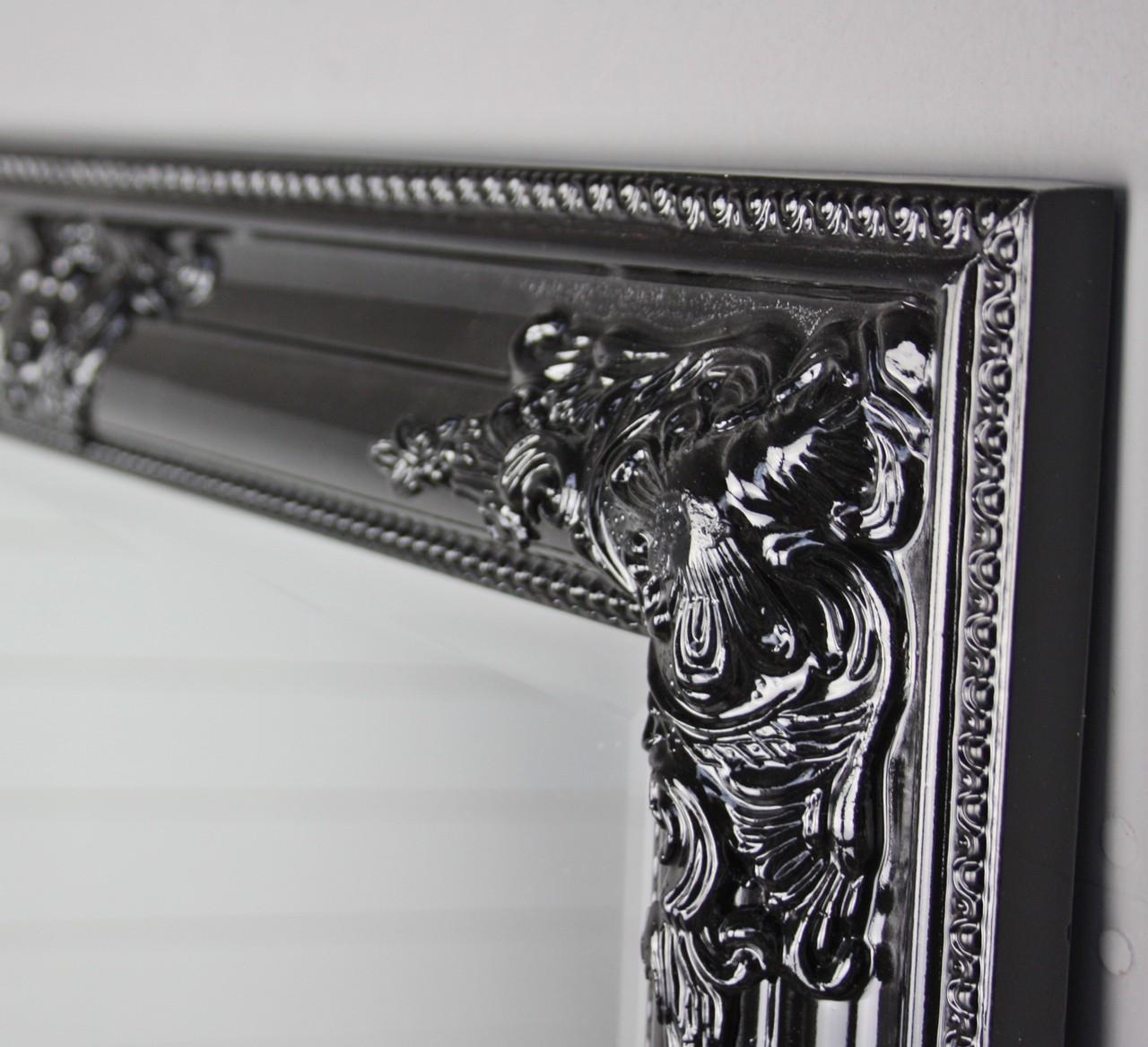 spiegel schwarz barock 82cm