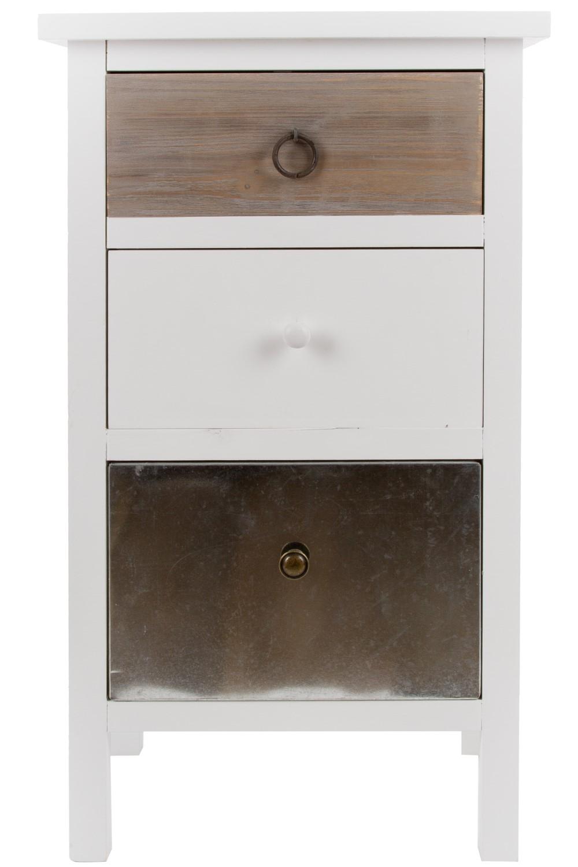 Kommode Weiss Holz Metall Nachtschrank Elbmobel Online Shop