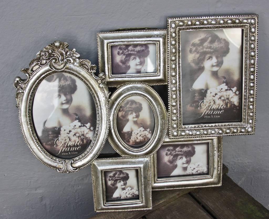 Fotorahmen silber antik Collage | günstige Landhausmöbel online ...