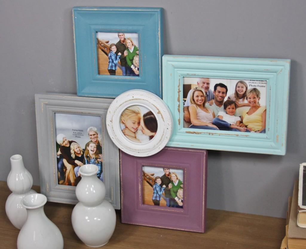 bilderrahmen bunt collage. Black Bedroom Furniture Sets. Home Design Ideas