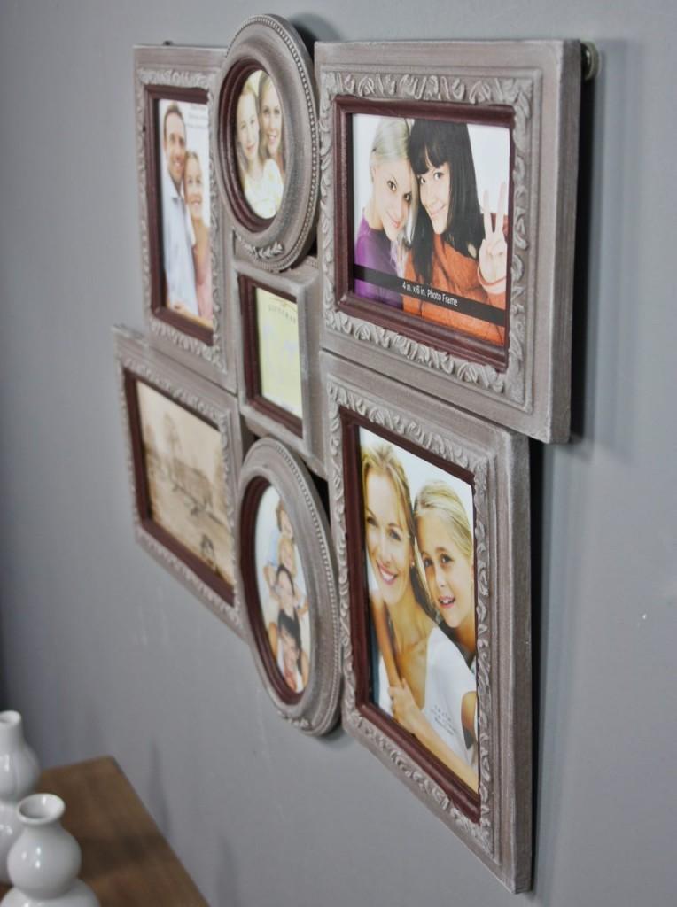 Bilderrahmen Braun Holz Collage