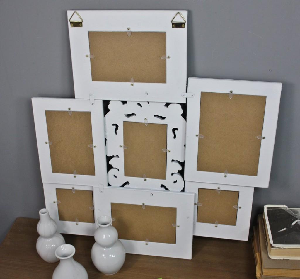 bilderrahmen collage wei antik holz fotogalerie rahmen. Black Bedroom Furniture Sets. Home Design Ideas