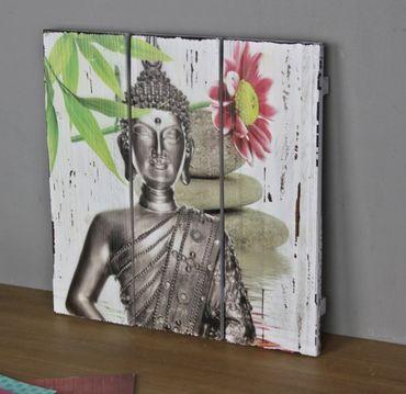 Wandbild Buddha Holz