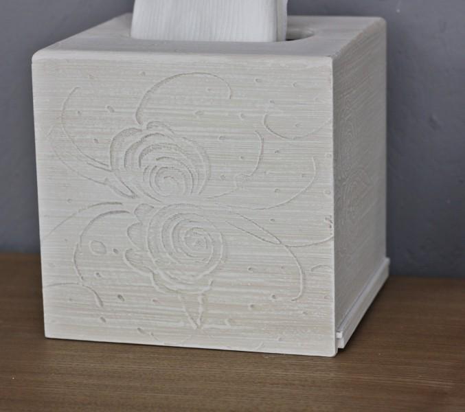 box kosmetiktuchbox holz holzkiste wei creme antik t cher spender 14x14 ebay. Black Bedroom Furniture Sets. Home Design Ideas