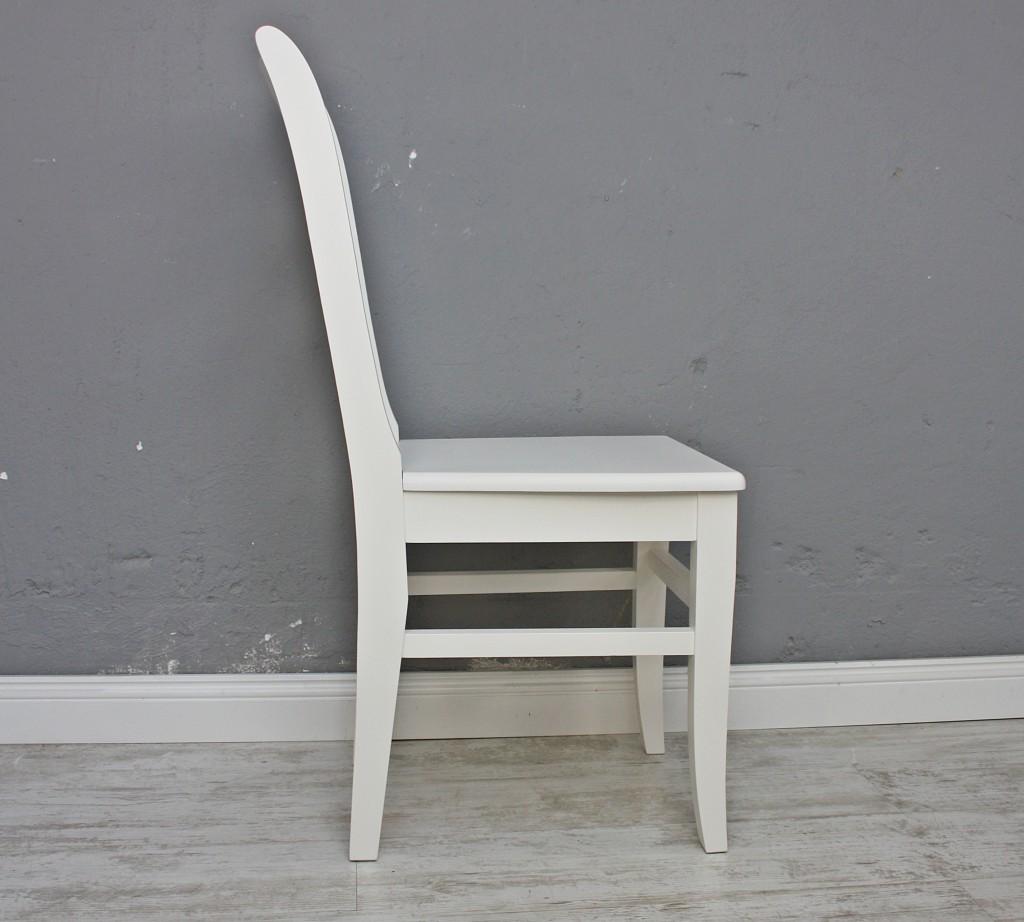Holzstuhl Weiß stuhl holzstuhl küchenstuhl lena massiv weiß holz landhaus cottage