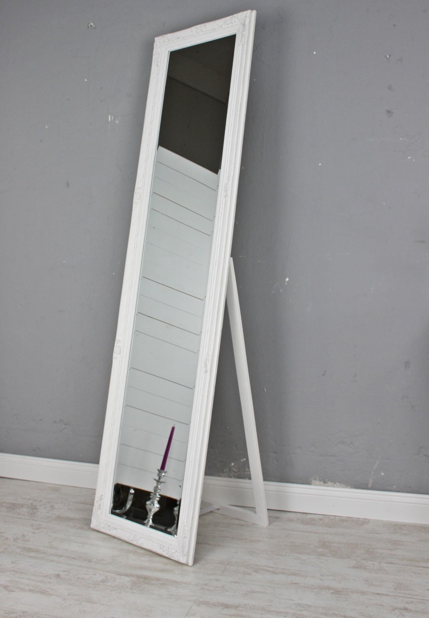standspiegel wei antik gro 180cm holz wandspiegel barock badspiegel landhaus ebay. Black Bedroom Furniture Sets. Home Design Ideas
