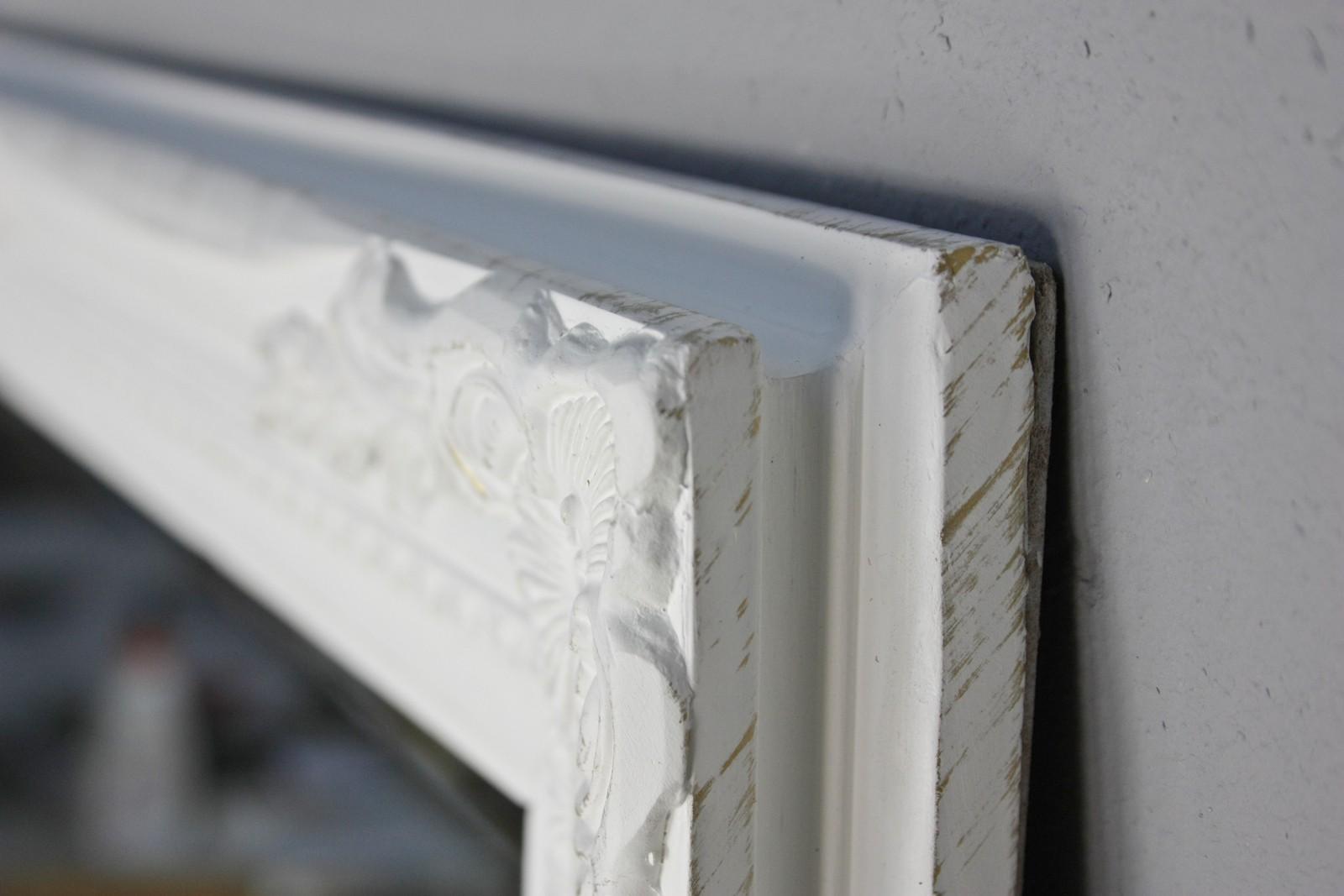 spiegel wei antik 150x60 cm holz neu wandspiegel barock. Black Bedroom Furniture Sets. Home Design Ideas