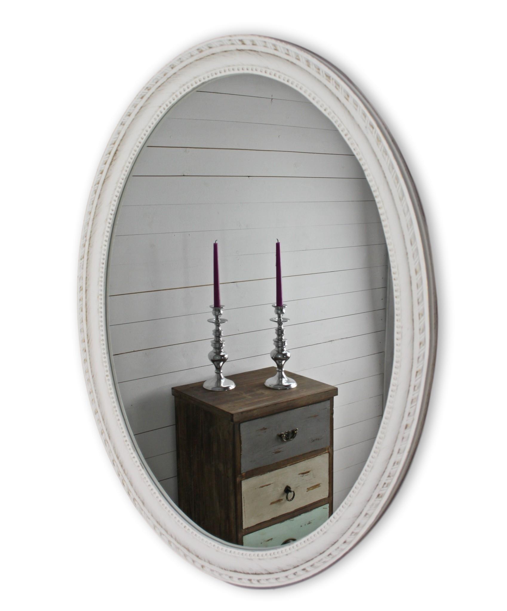 Schön Wandspiegel Weiß Antik Oval