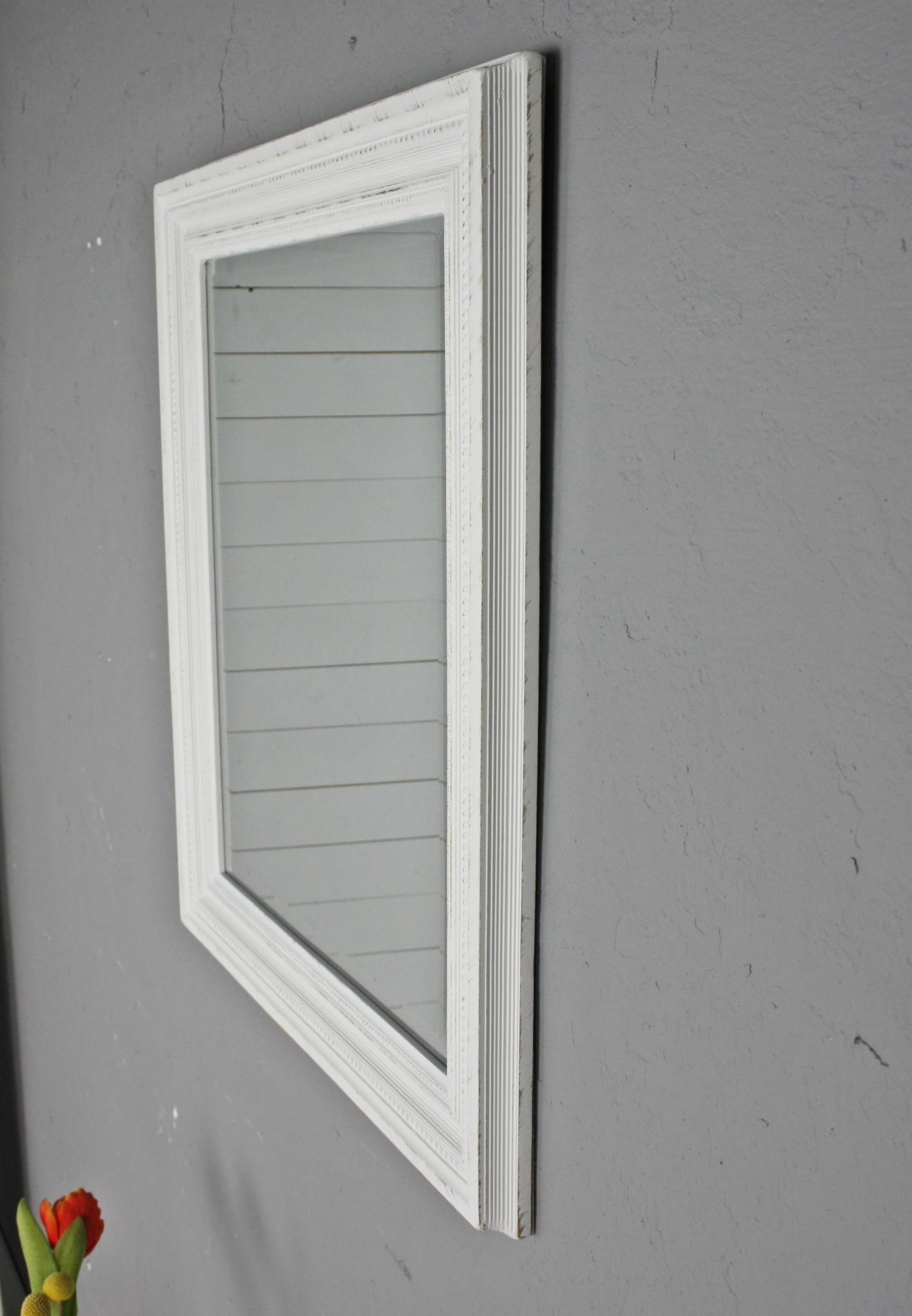 spiegel wei antik 60x50cm holz landhaus wandspiegel badspiegel standspiegel ebay. Black Bedroom Furniture Sets. Home Design Ideas