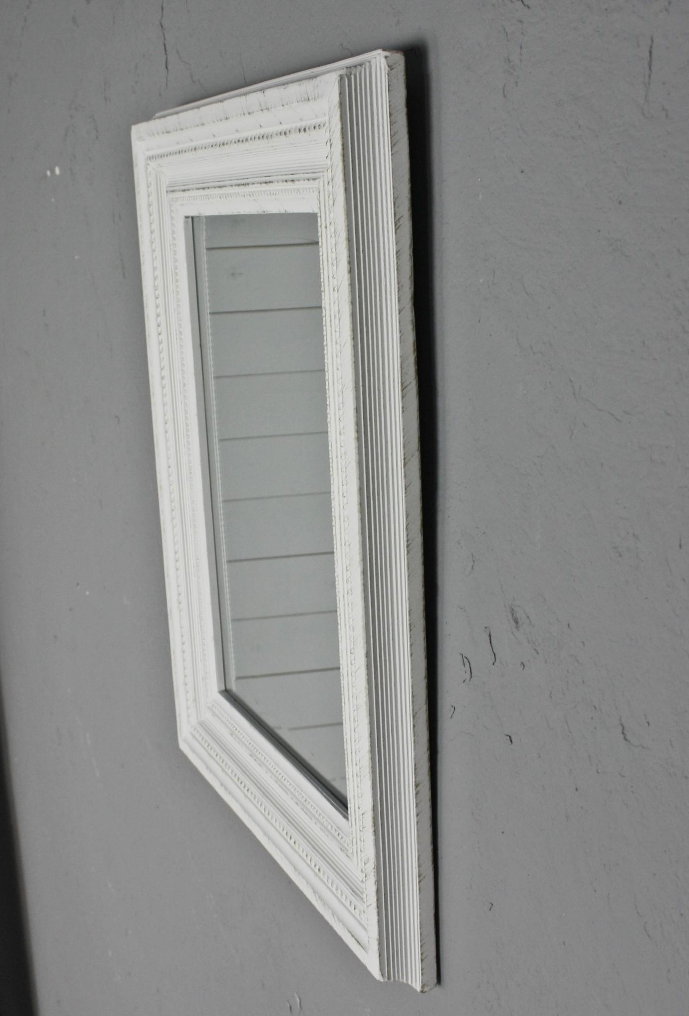 spiegel wei antik 45x35 cm holz neu wandspiegel barock badspiegel landhaus ebay. Black Bedroom Furniture Sets. Home Design Ideas