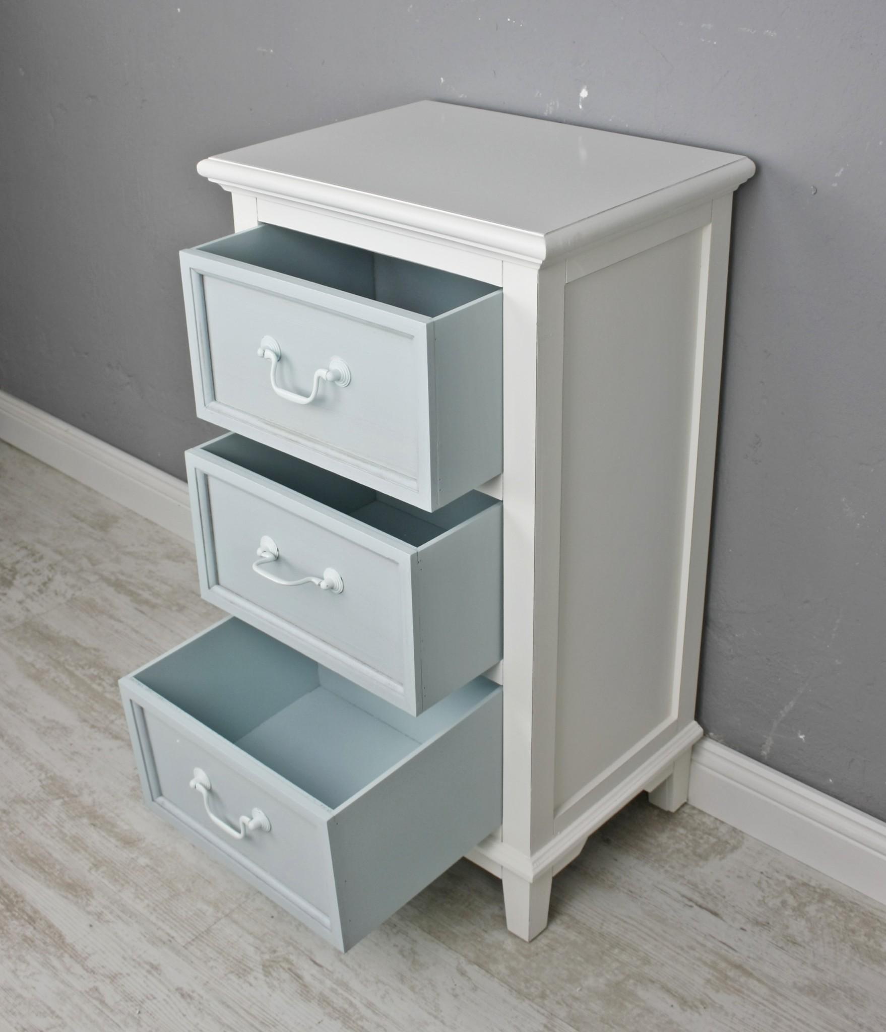 kommode 3 schubladen wei blau. Black Bedroom Furniture Sets. Home Design Ideas