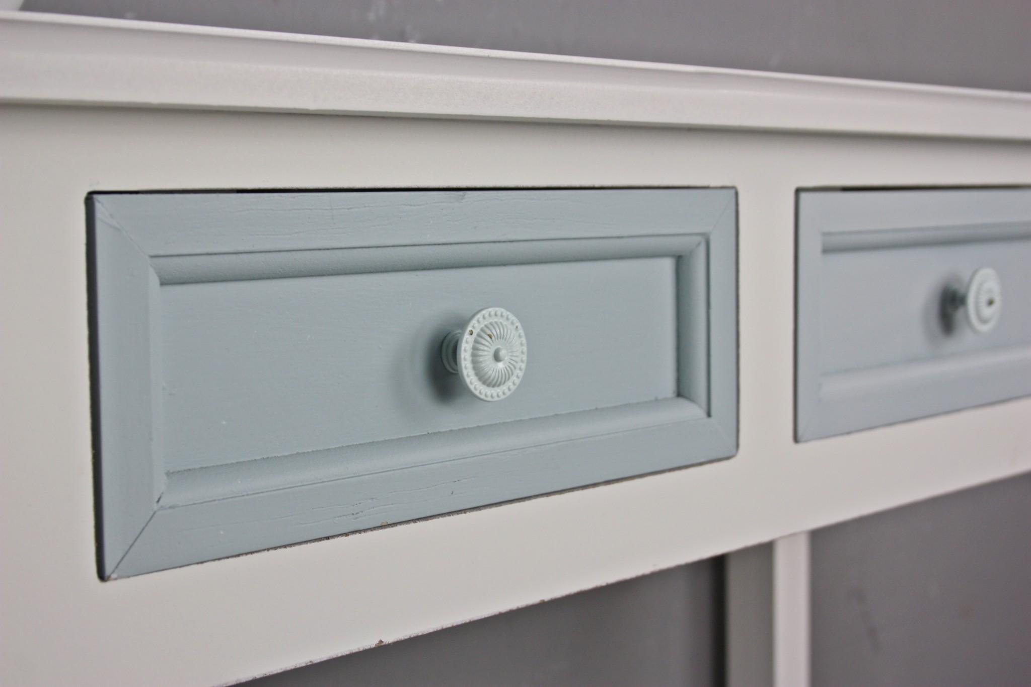 konsole 2 schubladen wei blau. Black Bedroom Furniture Sets. Home Design Ideas