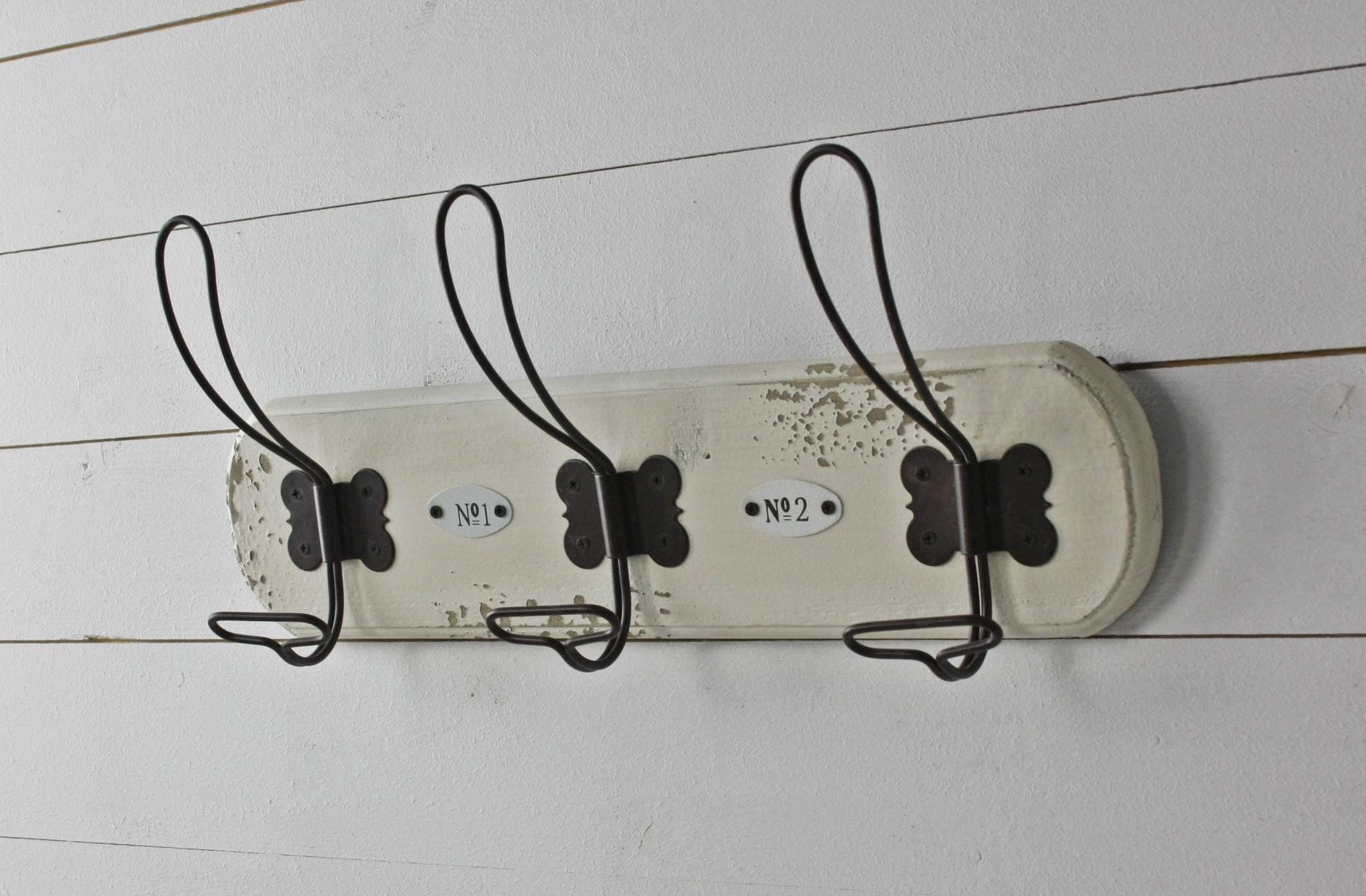 Garderobe 40cm hakenleiste wei shabby for Garderobe 40 cm tief