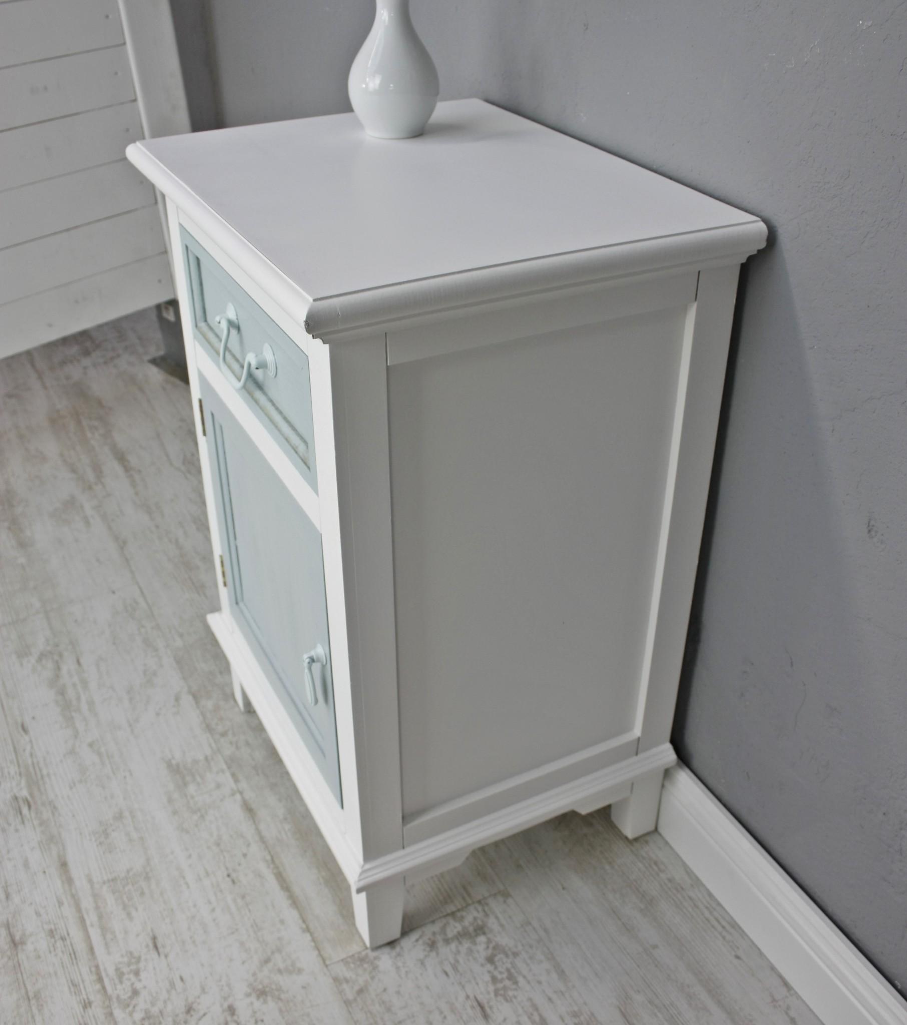 kommode schublade t r schrank wei blau antik landhaus. Black Bedroom Furniture Sets. Home Design Ideas