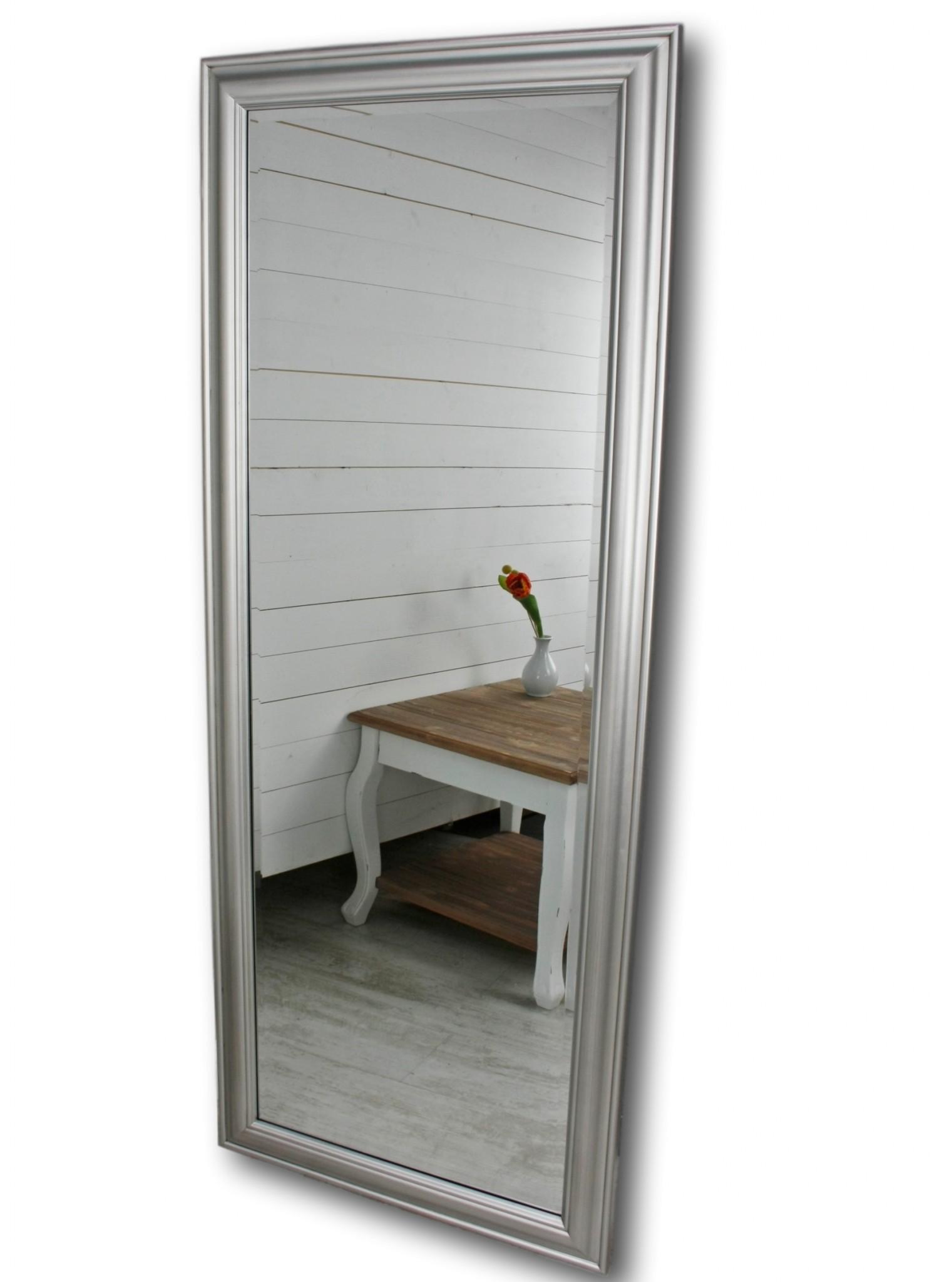 Spiegel 150 Wandspiegel Standspiegel silber HOLZ Landhaus Holzrahmen ...