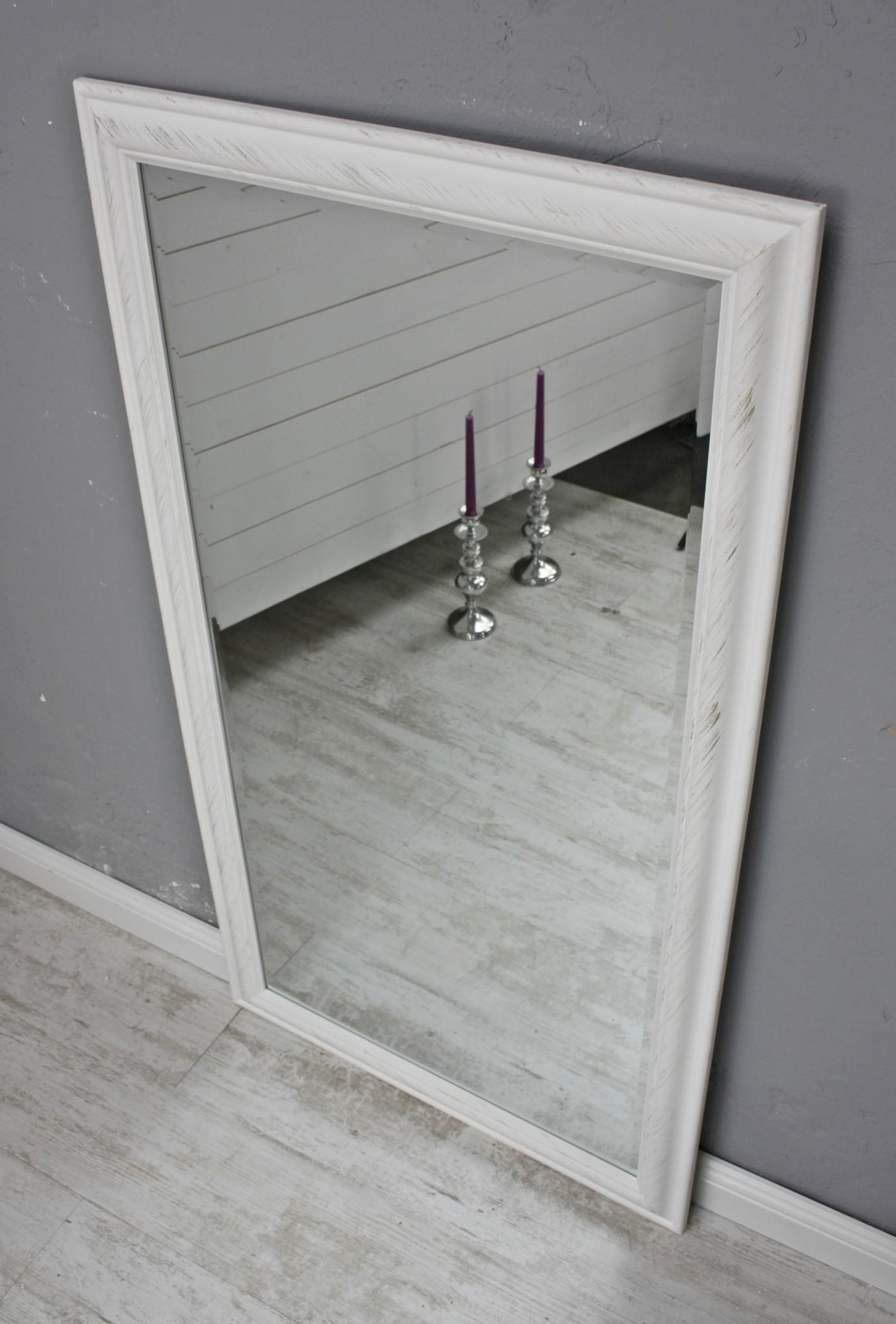 spiegel 132 wandspiegel standspiegel wei holz landhaus holzrahmen badspiegel ebay. Black Bedroom Furniture Sets. Home Design Ideas